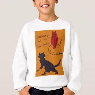 Sweatshirt Fourche de démon de diable de citrouille de chat
