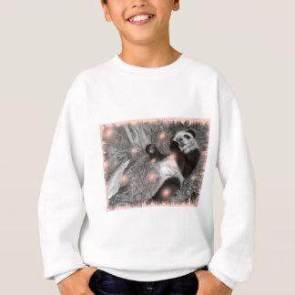Sweatshirt Grandes bulles de rose de jeu de panda