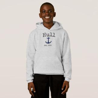 Sweatshirt gris du Massachusetts de coque pour des