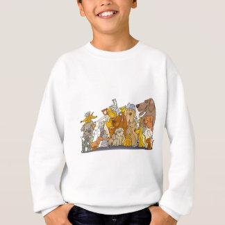 Sweatshirt groupe énorme de chats et de chiens