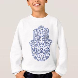 Sweatshirt hamsa*tunis*morocco*henna*blue