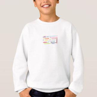 Sweatshirt Harmonie, amours, force de création, Lotus,