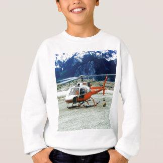 Sweatshirt Hélicoptère débarqué sur la montagne de glacier