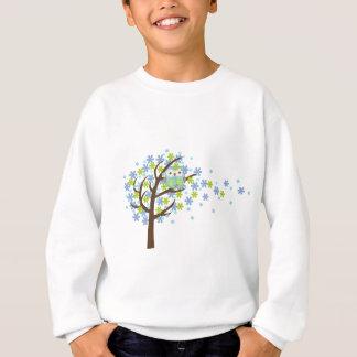 Sweatshirt Hibou venteux bleu d'arbre