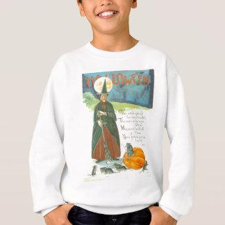 Sweatshirt Homme de balai de citrouille de sorcière chez la