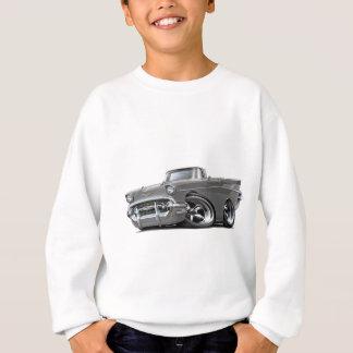 Sweatshirt Hot rod 1957 convertible gris de Chevy Belair