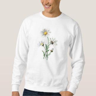Sweatshirt Illustration de fleur sauvage de marguerites du