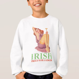 Sweatshirt Irlandais - fier d'être un gingembre !