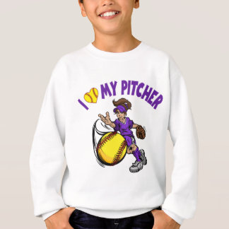 Sweatshirt J'aime mon broc, pourpre