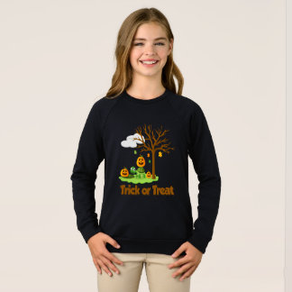 Sweatshirt Jardin de nuage d'arbre de citrouille de tortue de