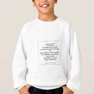 Sweatshirt Je choisis de ne pas parler la devise