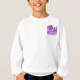 Sweatshirt Je porte le pourpre pour ma mucoviscidose de la