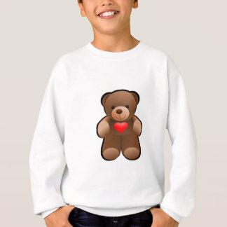 Sweatshirt Je t'aime ours de nounours de coeur