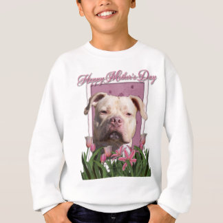 Sweatshirt Jour de mères - tulipes roses - Pitbull - fille du