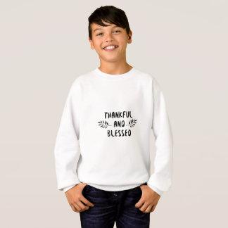 Sweatshirt Jour reconnaissant et béni de thanksgiving