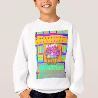 Sweatshirt Joyeuses Pâques. Séjour béni en tant que toujours