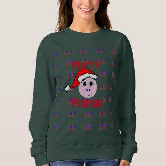 Sweatshirt Joyeux Pigmas, chandail laid de Noël