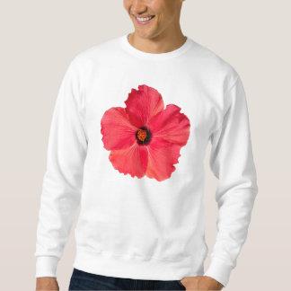 Sweatshirt Ketmie - fleur tropicale personnalisée de roses