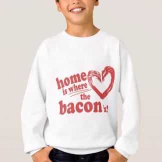 Sweatshirt La maison est où le lard est