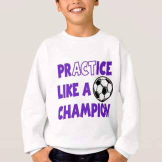 Sweatshirt La pratique aiment un champion, pourpre