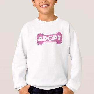 Sweatshirt l'adoption de chat et de chien adoptent l'os