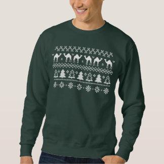 Sweatshirt laid de chandail de Noël de chameau de