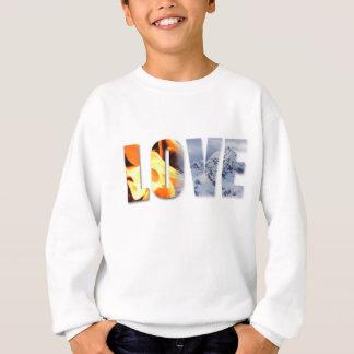 Sweatshirt L'amour aiment le feu, amour comme la neige