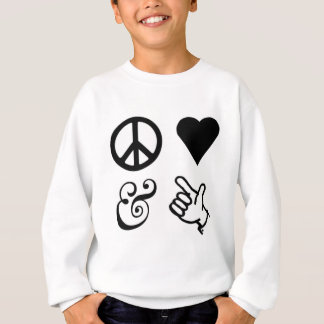 Sweatshirt L'amour de paix et obtiennent vos armes à feu