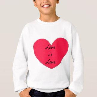 Sweatshirt l'amour est habillement d'amour
