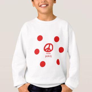 Sweatshirt Langue et conception polonaises de symbole de paix