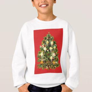 Sweatshirt L'arbre de Noël illuminé par des bougies ornemente