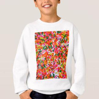 Sweatshirt L'arc-en-ciel arrose le motif de sucrerie