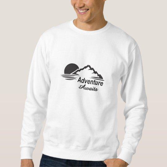 Sweatshirt L'aventure attend la nature grande dehors