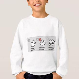 Sweatshirt Le bouton poussoir, reçoivent le lard