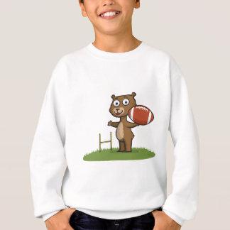 Sweatshirt Le football d'ours de nounours