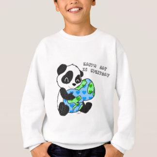 Sweatshirt Le panda étreint le chandail de la terre