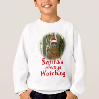 Sweatshirt L'écureuil de Père Noël observe toujours