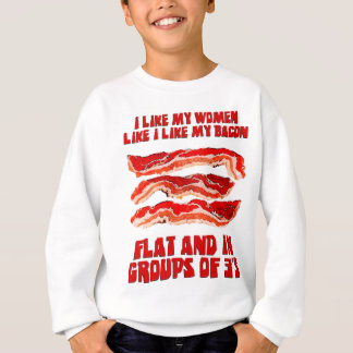 Sweatshirt Les femmes aiment le lard