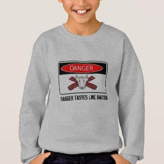 Sweatshirt Les goûts de danger aiment le lard