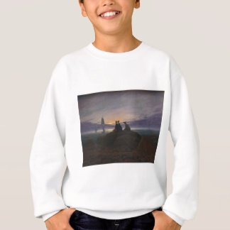 Sweatshirt Lever de la lune au-dessus de la mer