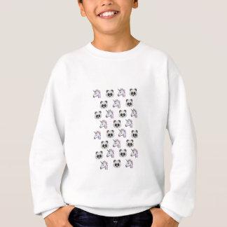 Sweatshirt Licorne et panda Emojis dans le scintillement