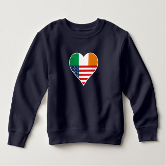 Sweatshirt L'Irlande, irlandais - l'Amérique, les USA. Heart,