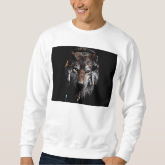 Sweatshirt Loup indien - loup gris