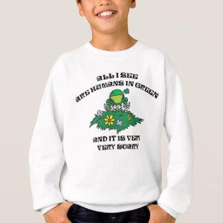Sweatshirt Lutin drôle - humains en vert