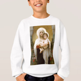 Sweatshirt Madonna des roses et de l'enfant infantile Jésus