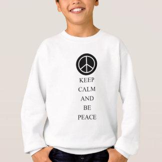 Sweatshirt Maintenez calme et soyez paix