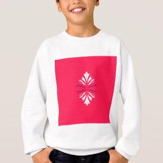 Sweatshirt Mandala blanc sur le rouge