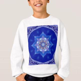 Sweatshirt Mandala bleu