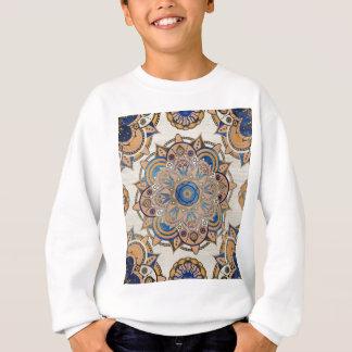 Sweatshirt Mandala de bleu et d'or