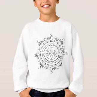 Sweatshirt Mandala maya - croquis de charbon de bois